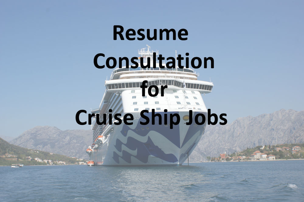 Resume Consultation – Cruise Job Directory