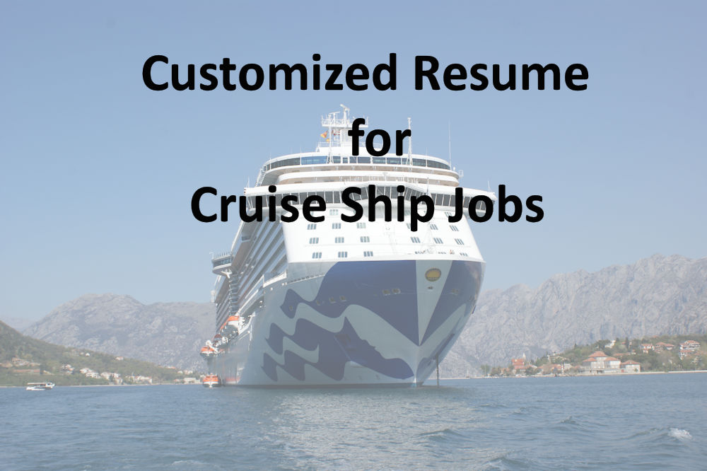 Customized Resume Cruise Job Directory